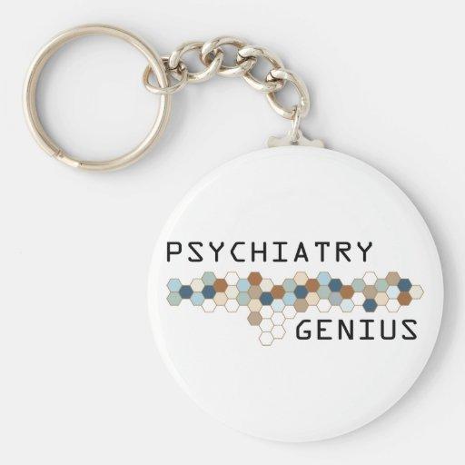 Genio de la psiquiatría llaveros personalizados