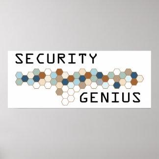 Genio de la seguridad posters