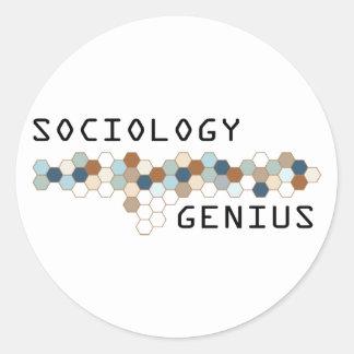 Genio de la sociología pegatina redonda