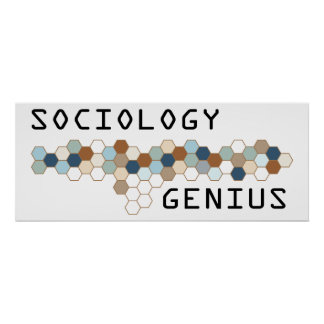 Genio de la sociología póster