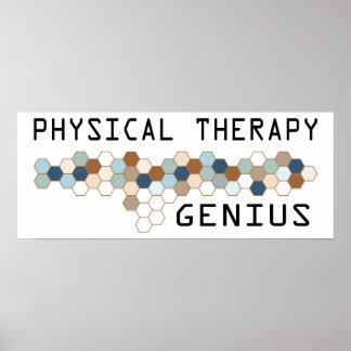 Genio de la terapia física poster