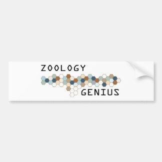 Genio de la zoología etiqueta de parachoque