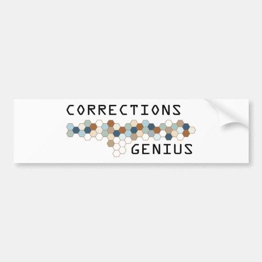 Genio de las correcciones etiqueta de parachoque