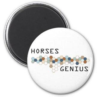 Genio de los caballos imán redondo 5 cm