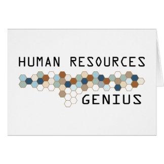 Genio de los recursos humanos tarjeta