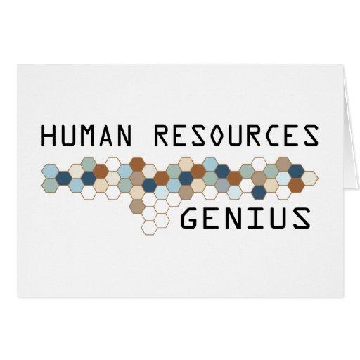 Genio de los recursos humanos tarjeta de felicitación