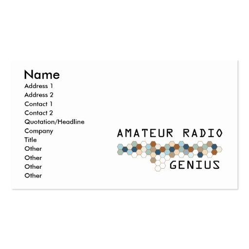 Genio de radio aficionado tarjetas de visita