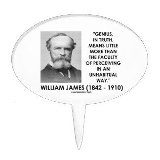 Genio de William James que percibe una manera de Figuras De Tarta
