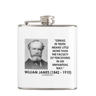 Genio de William James que percibe una manera de Petaca