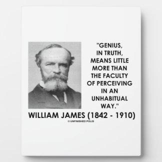 Genio de William James que percibe una manera de Placas De Plastico
