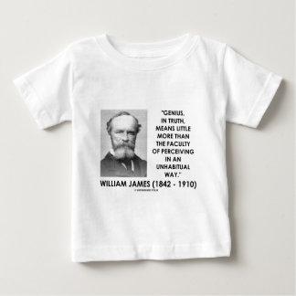 Genio de William James que percibe una manera de Playera