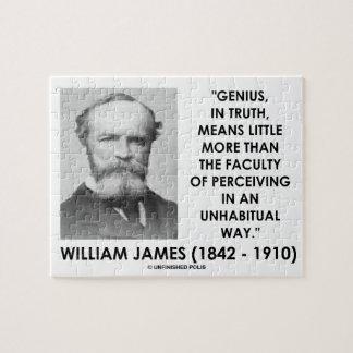 Genio de William James que percibe una manera de Rompecabeza