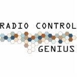 Genio del control de radio escultura fotográfica
