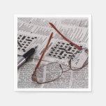 Genio del crucigrama servilletas de papel