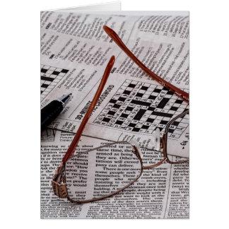 Genio del crucigrama tarjeta pequeña