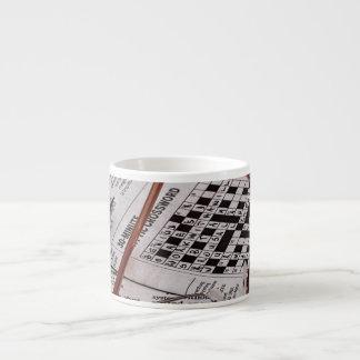 Genio del crucigrama taza espresso