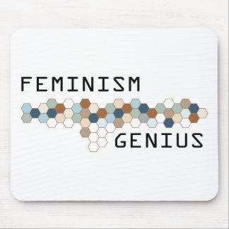 Genio del feminismo alfombrillas de ratón