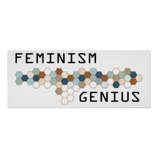 Genio del feminismo posters