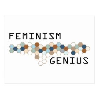 Genio del feminismo tarjeta postal