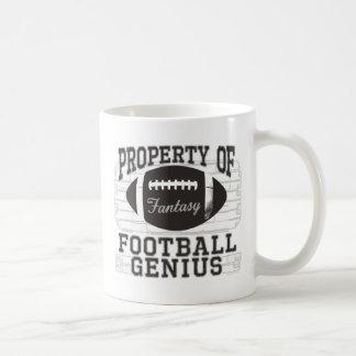 Genio del fútbol de la fantasía taza de café