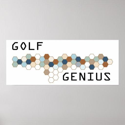 Genio del golf posters