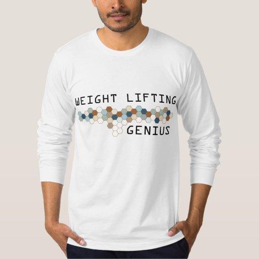 Genio del levantamiento de pesas polera