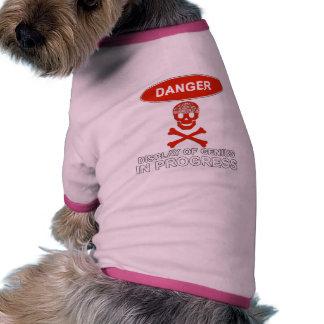 Genio del peligro ropa de mascota