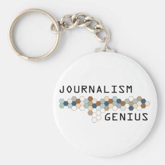 Genio del periodismo llavero personalizado