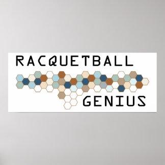 Genio del Racquetball Posters