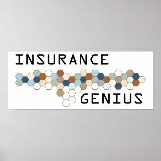 Genio del seguro póster