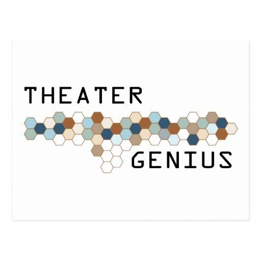 Genio del teatro tarjeta postal