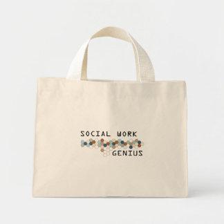 Genio del trabajo social bolsa tela pequeña