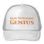 Genio enojado del científico gorro de camionero