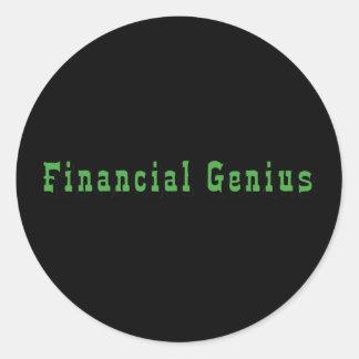 Genio financiero pegatina redonda