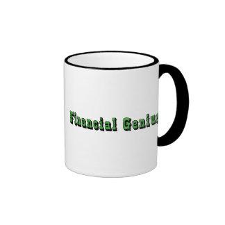 Genio financiero tazas de café