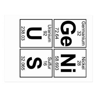 Genio (genio) - por completo postal