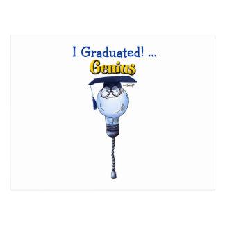 Genio - la graduación carda y invita postal