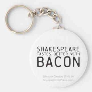 Genio literario: Shakespeare con tocino Llaveros Personalizados