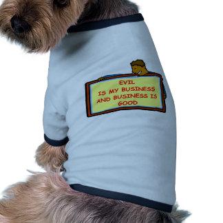 genio malvado ropa de perro