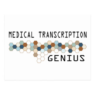 Genio médico de la transcripción postal