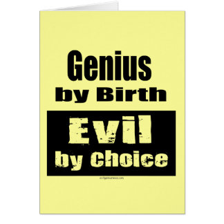 Genio por el nacimiento mal por la opción tarjeta