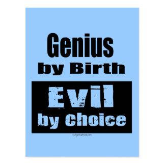 Genio por el nacimiento mal por la opción tarjetas postales