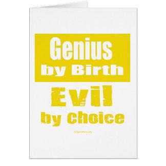 Genio por el nacimiento mal por la opción tarjeton