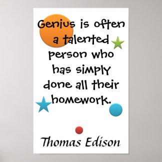 Genio = preparación póster