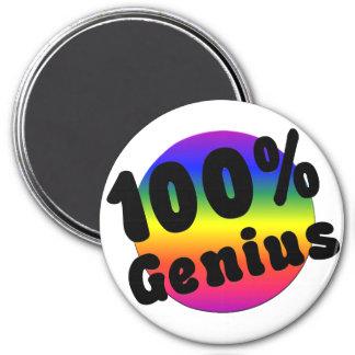 Genio puro del 100 por ciento en el arco iris de G Imán Redondo 7 Cm