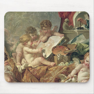 Genio que enseña a los artes, 1761 alfombrilla de ratón