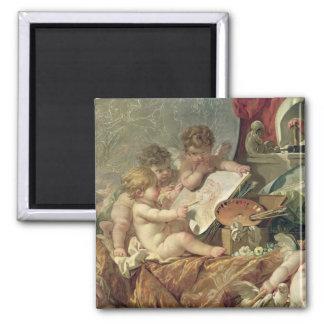 Genio que enseña a los artes, 1761 imán cuadrado