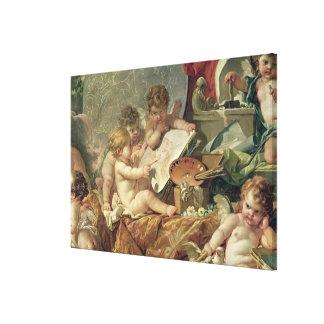 Genio que enseña a los artes, 1761 impresiones de lienzo