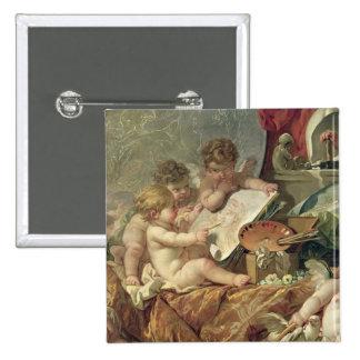 Genio que enseña a los artes, 1761 pin cuadrado