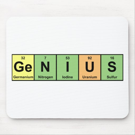 Genio - tabla periódica de productos de los alfombrilla de raton